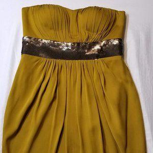 Robert Rodriguez Yellow Strapless Mini Dress